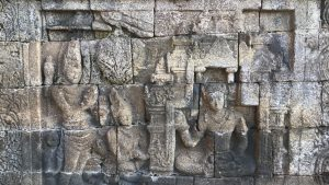 relief on borobudur gallery